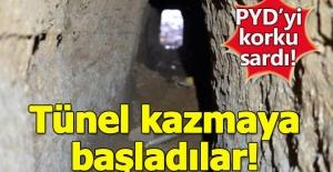 PYD'yi Afrin operasyonu korkusu sardı! Tünel kazmaya başladıla
