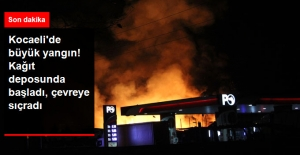 Kocaeli'de Dehşet! Kağıt Deposunda Başlayan Yangın Yandaki Binalar Sıçradı
