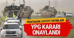 YPG kararı onaylandı Pentagon listeyi kalem kalem yayınladı