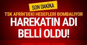Afrin harekatı başladı! Türk savaş uçakları terör hedeflerini bombalıyor