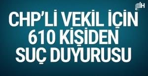CHP'li Aldan'a 610 kişiden suç duyurusu