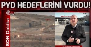 Mehmetçik Afrin kırsalındaki terör örgütü PYD/YPG mevzilerini vurdu!