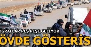 ÖSO güçleri Azez'de konvoy yaptı