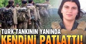 PKK'lı terörist tankların yanında kendini patlattı