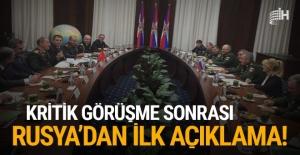 Rusya'dan kritik toplantı sonrası Türkiye açıklaması