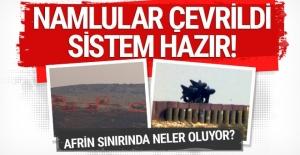 Sınırda son durum namlular çevrildi savunma sistemi hazır
