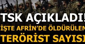 Son dakika: TSK'dan Afrin Harekatı açıklaması: En az 260 terörist öldürüldü!