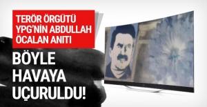TSK, YPG'nin Öcalan anıtını havaya uçurdu!