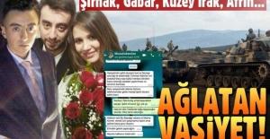 Zeytin Dalı harekatının ilk şehidi Musa Özalkan'ın ağlatan vasiyeti