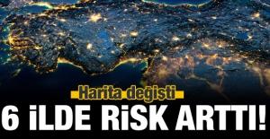 46 ilde risk azaldı, 6 ilde arttı! İşte o harita