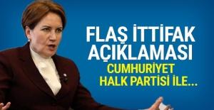 Akşener'den flaş ittifak açıklaması: CHP ile...