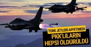O bölgede çok sayıda PKK'lı öldürüldü