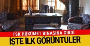 TSK Afrin'de hükümet binasına girdi! İşte ilk kareler...