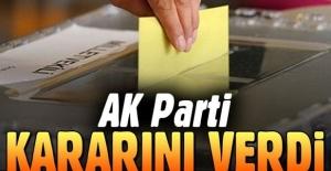 AK Parti erken seçim konusunda kararını verdi