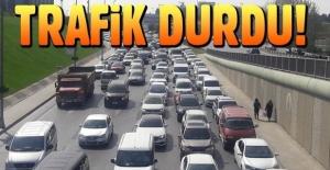 İstanbul Yeşilköy'de trafik kilitlendi
