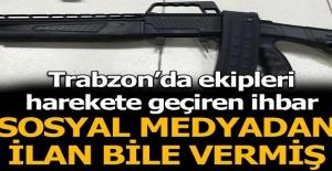 Sosyal medyadan ilan bile vermiş! Trabzon'da ekipleri harekete geçiren ihbar!