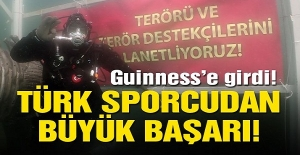 Türk sporcudan büyük başarı! Guinness' e girdi...
