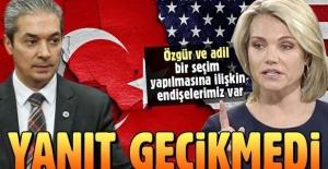Türkiye'den ABD'ye yanıt