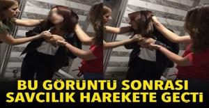 3 kız, arkadaşının ofisini basıp dövdü, o görüntülere soruşturma başlatıldı