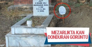 Mezarlıkta kan donduran görüntü!