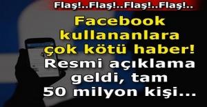 Son dakika: Facebook kullananlara çok kötü haber! Resmi açıklama geldi, tam 50 milyon kişi...