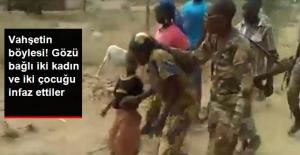 Vahşetin böylesi! Gözü bağlı iki kadın ve iki çocuğu infaz ettiler!