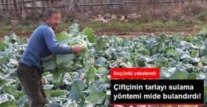 Çiftçi, Tarlayı Bakın Nasıl  Sularken Ya-k-ala-ndı