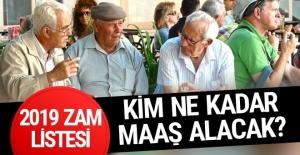 SSK ve Bağ-Kur emeklilerinin 2019 Ocak zammı tam liste