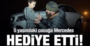 5 yaşındaki çocuğa-MERCEDES hediye etti