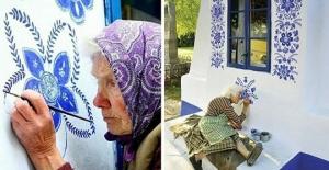 90 Yaşındaki Kadın Minik Fırçasıyla Köyünü Cennete Çevirdi