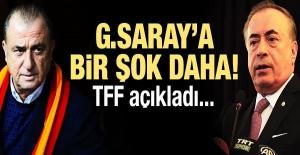 Galatasaray'a bir şok daha! TFF açıkladı...