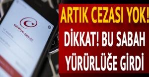 Artık cezası yok! Bu sabah Resmi Gazete'de yayımlandı!