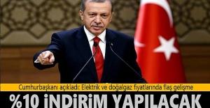 Erdoğan açıkladı! Yeni yılda doğalgaz ve elektriğe yüzde 10 indirim