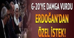 G20 liderleri yemekte buluştu! Cumhurbaşkanı Erdoğan'a özel