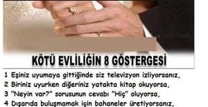 Kötü evliliklerin 8 göstergesi -...