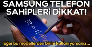 bSamsung Telefon Sahipleri Dikkat!/b