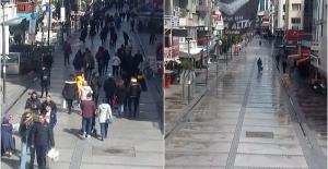 Kovid-19 önlemleri öncesi ve sonrası İzmir