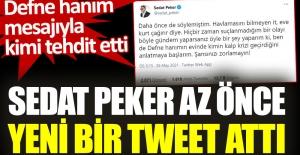 Sedat Peker az önce yeni bir tweet...