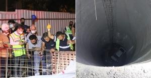 İzmir'de otomobil metro inşaatındaki 25 metrelik boşluğa düştü: 1 ölü, 1 yaralı