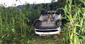 Ordu'da polis aracı devrildi 2 yaralı