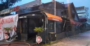 2 kişinin öldürüldüğü eğlence mekanı yeniden açılış öncesi yandı