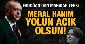 Cumhurbaşkanı Erdoğan'dan Meral Akşener'e tepki: Yolun açık olsun!