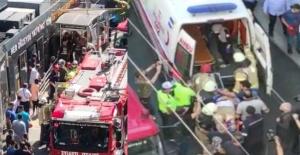 Gülhane tramvay durağında feci kaza! Yaşlı adam durakla tramvay arasında sıkıştı