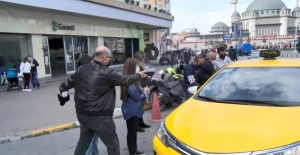 Taksim Meydanı'nda turistin taksi isyanı