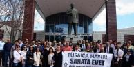 Adana'da Tiyatro Oyuncularından Eylem