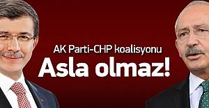 AK Parti-CHP koalisyonu için #039;imkansız#039;...