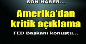 Amerikadan kritik açıklama!