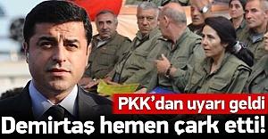 Demirtaş PKK#039;nın uyarısı sonrası...