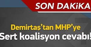 Demirtaş'tan MHP'ye çok ağır sözler