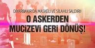Diyarbakırda astsubaya maskeli saldırı!